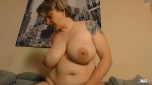 Granny, Riding, Cowgirl, Big tits, Mature, German, Tits